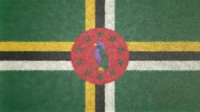Αρχική τρισδιάστατη εικόνα της σημαίας της Δομίνικας Ελεύθερη απεικόνιση δικαιώματος