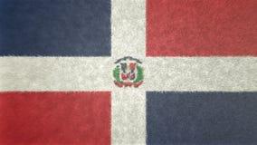 Αρχική τρισδιάστατη εικόνα της σημαίας της Δομινικανής Δημοκρατίας Διανυσματική απεικόνιση