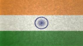 Αρχική τρισδιάστατη εικόνα της σημαίας της Ινδίας Ελεύθερη απεικόνιση δικαιώματος