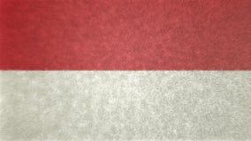 Αρχική τρισδιάστατη εικόνα της σημαίας της Ινδονησίας Ελεύθερη απεικόνιση δικαιώματος