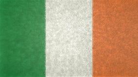 Αρχική τρισδιάστατη εικόνα της σημαίας της Ιρλανδίας Διανυσματική απεικόνιση