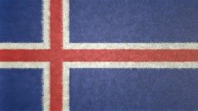 Αρχική τρισδιάστατη εικόνα της σημαίας της Ισλανδίας Ελεύθερη απεικόνιση δικαιώματος