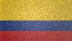 Αρχική τρισδιάστατη εικόνα της σημαίας της Κολομβίας Απεικόνιση αποθεμάτων