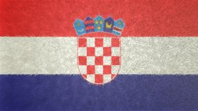Αρχική τρισδιάστατη εικόνα της σημαίας της Κροατίας Ελεύθερη απεικόνιση δικαιώματος