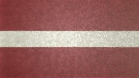 Αρχική τρισδιάστατη εικόνα της σημαίας της Λετονίας Διανυσματική απεικόνιση