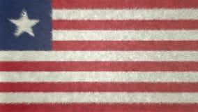 Αρχική τρισδιάστατη εικόνα της σημαίας της Λιβερίας Ελεύθερη απεικόνιση δικαιώματος