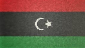 Αρχική τρισδιάστατη εικόνα της σημαίας της Λιβύης Διανυσματική απεικόνιση