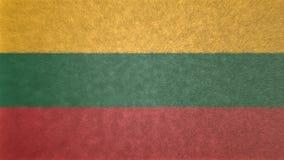 Αρχική τρισδιάστατη εικόνα της σημαίας της Λιθουανίας Διανυσματική απεικόνιση