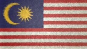 Αρχική τρισδιάστατη εικόνα της σημαίας της Μαλαισίας Ελεύθερη απεικόνιση δικαιώματος