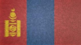 Αρχική τρισδιάστατη εικόνα της σημαίας της Μογγολίας Ελεύθερη απεικόνιση δικαιώματος