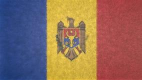 Αρχική τρισδιάστατη εικόνα της σημαίας της Μολδαβίας Διανυσματική απεικόνιση