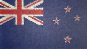 Αρχική τρισδιάστατη εικόνα της σημαίας της Νέας Ζηλανδίας Ελεύθερη απεικόνιση δικαιώματος