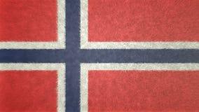 Αρχική τρισδιάστατη εικόνα της σημαίας της Νορβηγίας Διανυσματική απεικόνιση