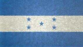 Αρχική τρισδιάστατη εικόνα της σημαίας της Ονδούρας Ελεύθερη απεικόνιση δικαιώματος