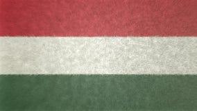 Αρχική τρισδιάστατη εικόνα της σημαίας της Ουγγαρίας Ελεύθερη απεικόνιση δικαιώματος