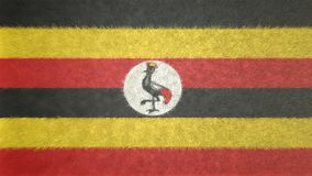 Αρχική τρισδιάστατη εικόνα της σημαίας της Ουγκάντας Διανυσματική απεικόνιση