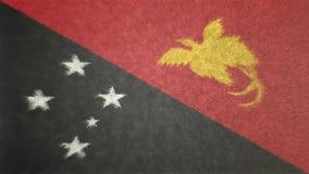 Αρχική τρισδιάστατη εικόνα της σημαίας της Παπούα Νέα Γουϊνέα Ελεύθερη απεικόνιση δικαιώματος