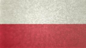 Αρχική τρισδιάστατη εικόνα της σημαίας της Πολωνίας Απεικόνιση αποθεμάτων