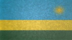 Αρχική τρισδιάστατη εικόνα της σημαίας της Ρουάντα Ελεύθερη απεικόνιση δικαιώματος