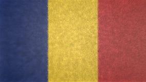 Αρχική τρισδιάστατη εικόνα της σημαίας της Ρουμανίας Απεικόνιση αποθεμάτων