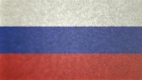 Αρχική τρισδιάστατη εικόνα της σημαίας της Ρωσίας Διανυσματική απεικόνιση