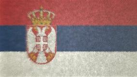 Αρχική τρισδιάστατη εικόνα της σημαίας της Σερβίας Απεικόνιση αποθεμάτων
