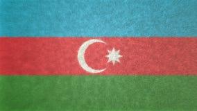 Αρχική τρισδιάστατη εικόνα της σημαίας του Αζερμπαϊτζάν Απεικόνιση αποθεμάτων