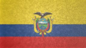 Αρχική τρισδιάστατη εικόνα της σημαίας του Ισημερινού Ελεύθερη απεικόνιση δικαιώματος