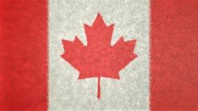 Αρχική τρισδιάστατη εικόνα της σημαίας του Καναδά Ελεύθερη απεικόνιση δικαιώματος