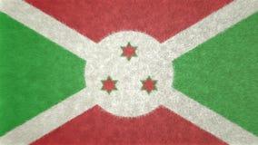 Αρχική τρισδιάστατη εικόνα της σημαίας του Μπουρούντι Απεικόνιση αποθεμάτων