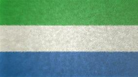 Αρχική τρισδιάστατη εικόνα της σημαίας του Sierra Leone Διανυσματική απεικόνιση