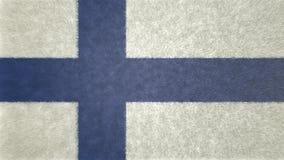 Αρχική τρισδιάστατη εικόνα της σημαίας της Φινλανδίας Ελεύθερη απεικόνιση δικαιώματος