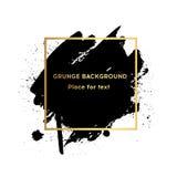 Αρχική grunge βουρτσών χρωμάτων σύστασης αφίσα κτυπήματος σχεδίου ακρυλική πέρα από το τετραγωνικό διάνυσμα πλαισίων Στοκ εικόνα με δικαίωμα ελεύθερης χρήσης