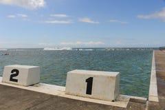 Αρχικοί φραγμοί και ωκεάνια λουτρά Στοκ φωτογραφία με δικαίωμα ελεύθερης χρήσης