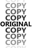 Αρχικός και αντίγραφα διανυσματική απεικόνιση
