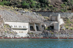 Αρχικός σταθμός αντλιών, φράγμα του Θεόδωρος Ρούσβελτ, κομητεία Gila, λίμνη Roosevelt, AZ Στοκ εικόνες με δικαίωμα ελεύθερης χρήσης