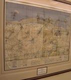 Αρχικός χάρτης μέρας-μ στο Casa Loma στο Τορόντο, Καναδάς στοκ εικόνες