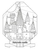 Αρχικό κάστρο νεράιδων ύφους doodle Στοκ Εικόνες