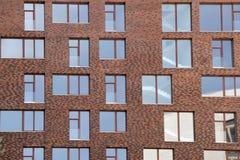 Αρχικό κτήριο τούβλου στη Μόσχα Στοκ φωτογραφία με δικαίωμα ελεύθερης χρήσης