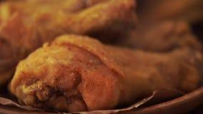 Αρχικό τηγανισμένο συνταγή κοτόπουλο απόθεμα βίντεο
