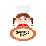 Αρχιμάγειρας γυναικών που κρατά ένα πιάτο Στοκ εικόνα με δικαίωμα ελεύθερης χρήσης