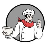 Αρχιμάγειρας εικονιδίων Στοκ εικόνες με δικαίωμα ελεύθερης χρήσης
