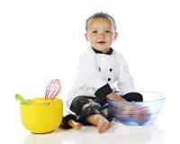 αρχιμάγειρας ευτυχής λί&ga Στοκ εικόνες με δικαίωμα ελεύθερης χρήσης