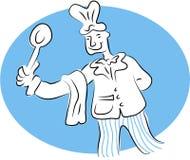 αρχιμάγειρας ευτυχής Στοκ εικόνες με δικαίωμα ελεύθερης χρήσης