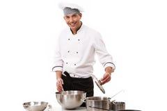 αρχιμάγειρας ευτυχής Στοκ Φωτογραφία