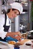 αρχιμάγειρας ευτυχής Στοκ εικόνα με δικαίωμα ελεύθερης χρήσης