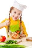 αρχιμάγειρας λίγη σαλάτα μιγμάτων Στοκ φωτογραφία με δικαίωμα ελεύθερης χρήσης