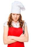0 αρχιμάγειρας με ένα αιχμηρό μαχαίρι Στοκ φωτογραφία με δικαίωμα ελεύθερης χρήσης