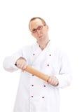Αρχιμάγειρας με την κυλώντας καρφίτσα Στοκ φωτογραφία με δικαίωμα ελεύθερης χρήσης