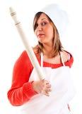 Αρχιμάγειρας με την κυλώντας καρφίτσα Στοκ εικόνα με δικαίωμα ελεύθερης χρήσης